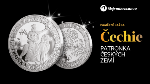 Čechie, patronka české země, se připomíná raženou mincí