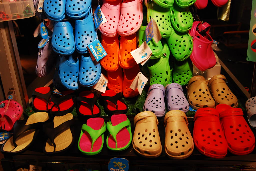 gumové pantofle, tzv. kroksy