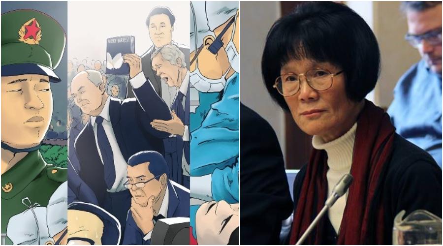 """Jü-mei Liou (Yumei Liu) z čínské provincie Liao-ning, která je přímou obětí pronásledování čínského režimu a nyní žije v azylu ve Finsku podpořila český komiksový projekt. Byla devětkrát zatčena a mučena v rámci takzvané """"převýchovy"""" vedené Komunistickou stranou Číny. Její otec, matka i manžel zemřeli v důsledku represí. (Lukáš Kruťa / Epoch Times)"""