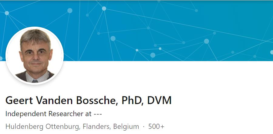 Geert Vanden Bossche Linked In