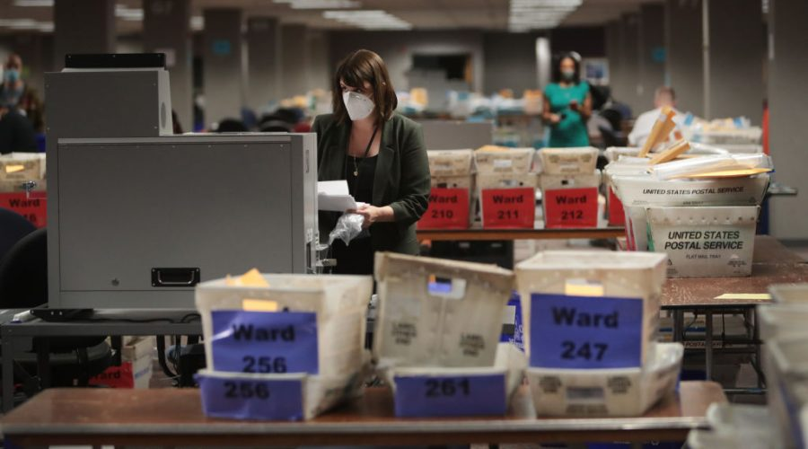 Wisconsin Continues Counting Ballots Through The Night Amid Close Election