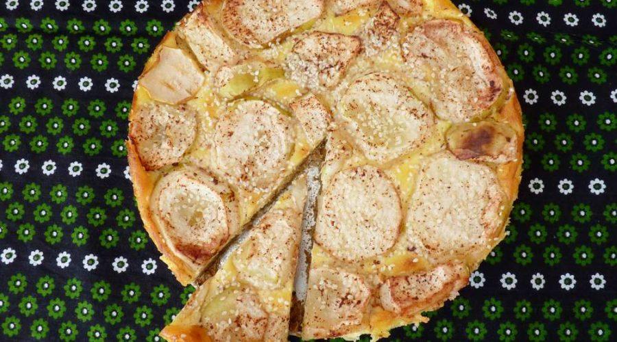 Jablečný koláč z Bavorska. (Ondřej Horecký/Epoch Times)