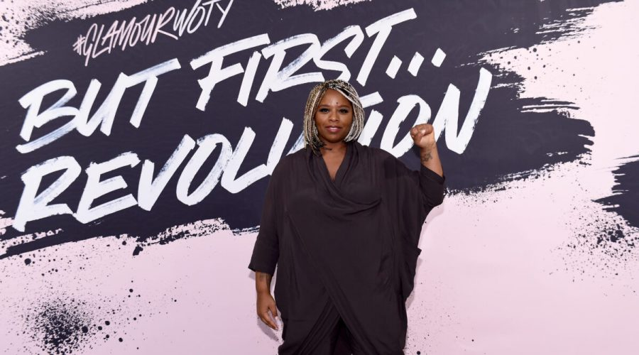 Spoluzakladatelka hnutí Black Lives Matter Patrisse Khan-Cullorsová pózuje v Brooklynském muzeu v New Yorku 13. listopadu 2017. (Ilya S. Savenok / Getty Images for Glamour)