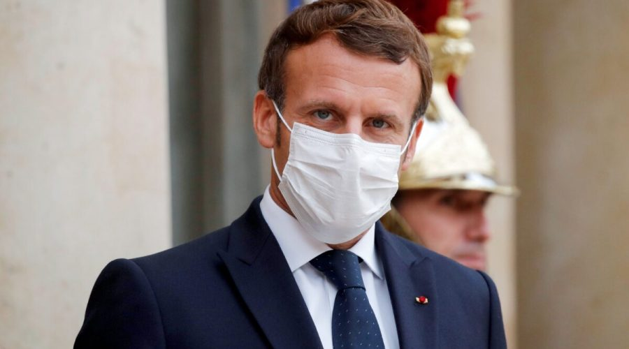 Francouzský prezident Emmanuel Macron v Elysejském paláci v Paříži, 22. října 2020. (Charles Platiau /Pool / AFP via Getty Images)