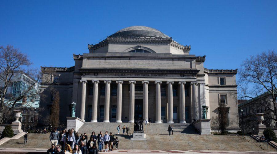 Kolumbijská univerzita v New Yorku, 9. března 2020. (Jeenah Moon / Getty Images)