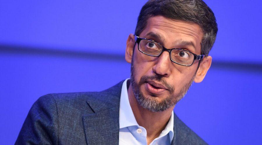 Generální ředitel společnosti Alphabet Sundar Pichai hovoří během zasedání na výročním zasedání Světového ekonomického fóra ve švýcarském Davosu 22. ledna 2020. (Fabrice Coffrini / AFP via Getty Images)