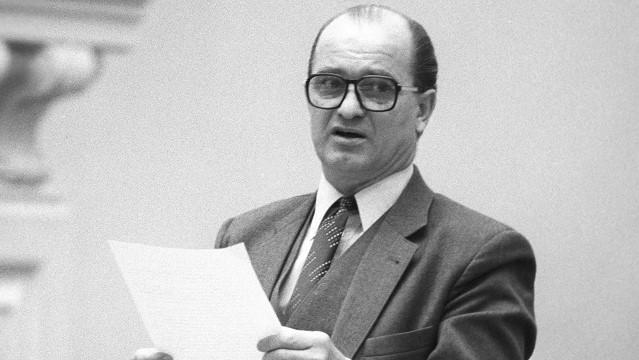Svatopluk Potáč, člen Ústředního výboru Komunistické strany Československa (ÚV KSČ), člen výboru Státní plánovací komise, ředitel Státní banky československé, 1. května 1981. (Profimedia)