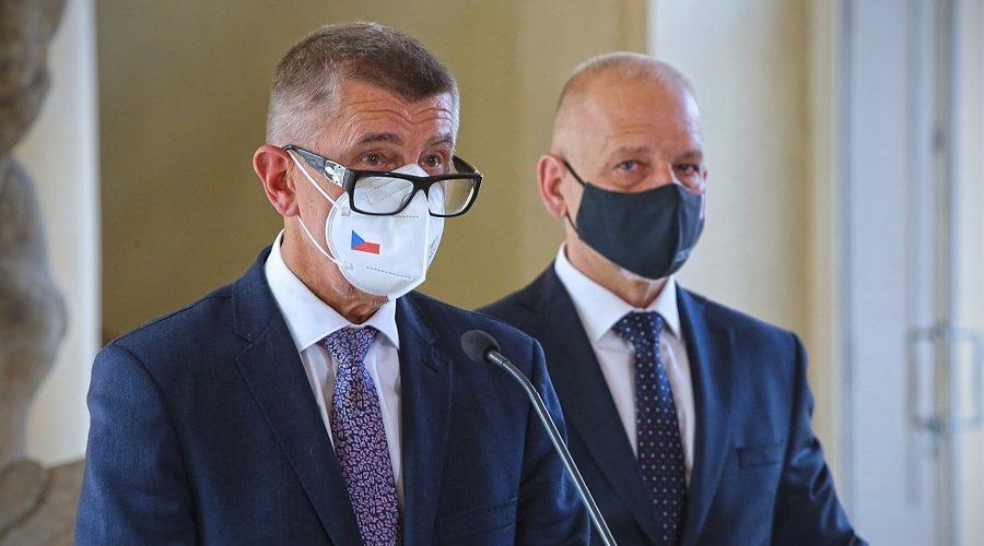 Premiér Andrej Babiš hovoří na tiskové konferenci po jednání na Ministerstvu zahraničních věcí, 19. července 2021. (Vlada.cz)