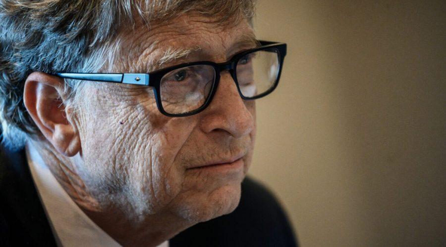 Zakladatel společnosti Microsoft a spolupředseda Nadace Billa a Melindy Gatesových Bill Gates se účastní konferenčního hovoru ve francouzském Lyonu 9. října 2019. (Jeff Pachoud / AFP via Getty Images)