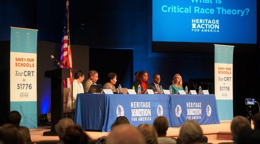 Skupina Heritage Action for America uspořádala 29. července 2021 v Georgetownu ve státě Delaware panelovou diskusi o kritické rasové teorii. (William Huang / The Epoch Times)