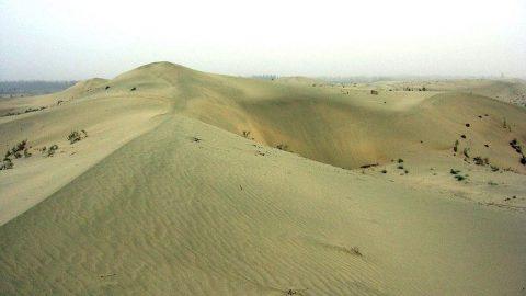 Povodeň: Rozsáhlá část největší čínské pouště je pod vodou