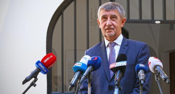 Předseda vlády Andrej Babiš informoval veřejnost o rozhodnutí kabinetu, 9. srpna 2021. (Vlada.cz)