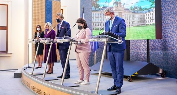 Tisková konference po jednání vlády, 23. srpna 2021. (vlada.cz)