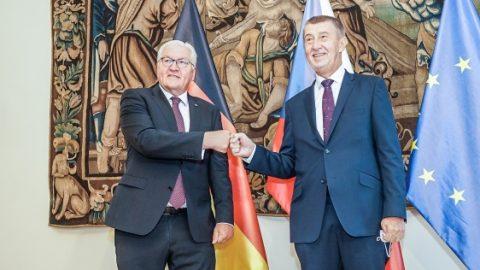 Německý prezident Steinmeier na třídenní návštěvě jednal snejvyššími představiteli ČR