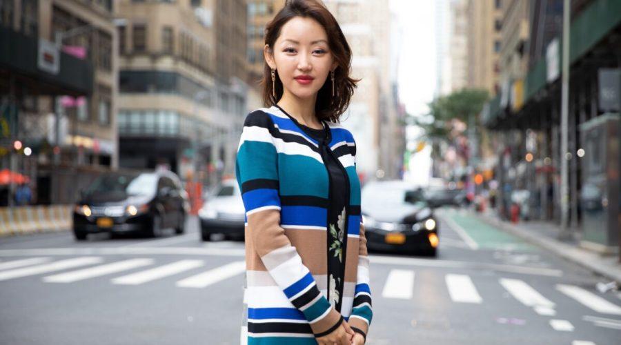 """Severokorejská uprchlice a aktivistka za lidská práva Yeonmi Parková, autorka knihy """"Abych přežila"""", na návštěvě v New Yorku, 17. srpna 2021. (Brendon Fallon / NTD)"""