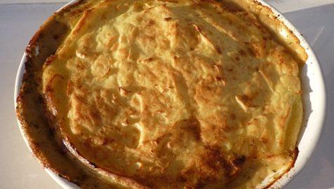 Recept: Zapékané houby sbramborovou kaší