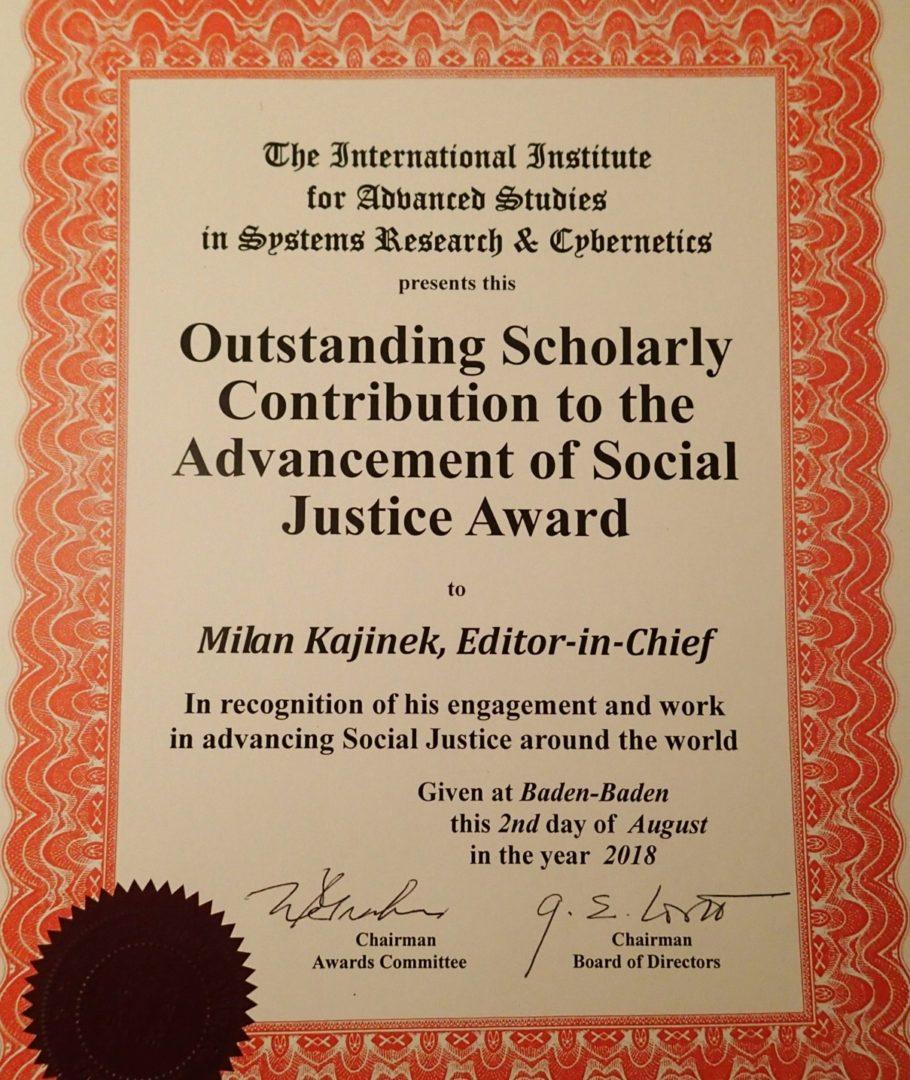 Ocenění Milana Kajínka