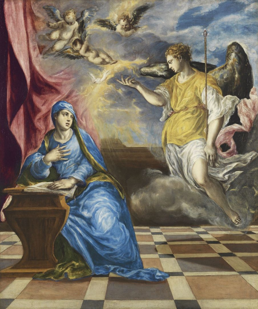 Archanděl Gabriel panna marie