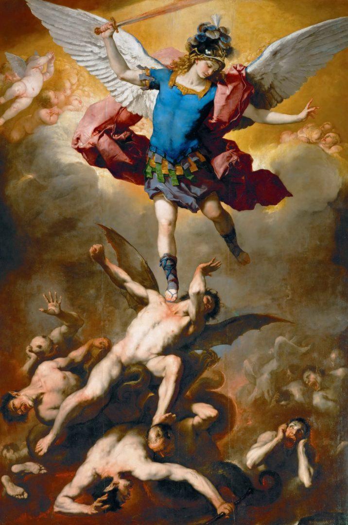Archanděl Michael satan obraz