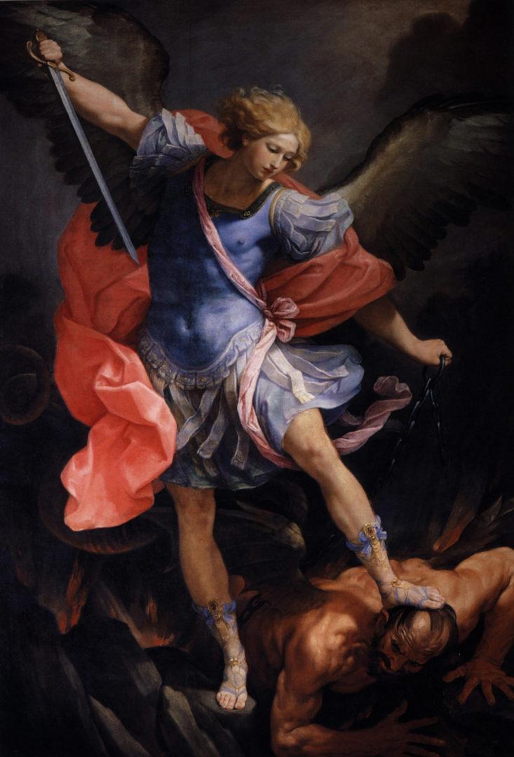 Archanděl Michael poráží Satana